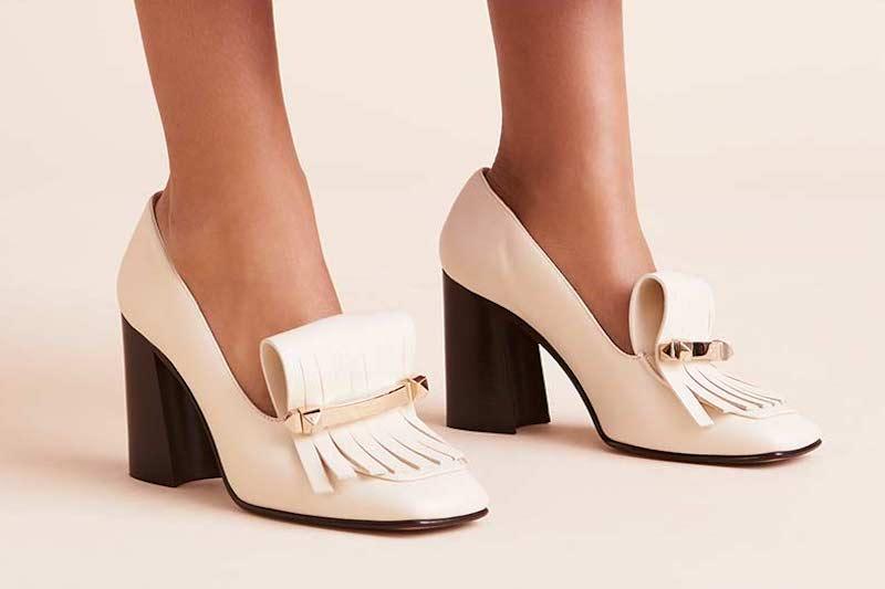 Valentino Garavani Uptown Kitten-Heel Kiltie Loafers