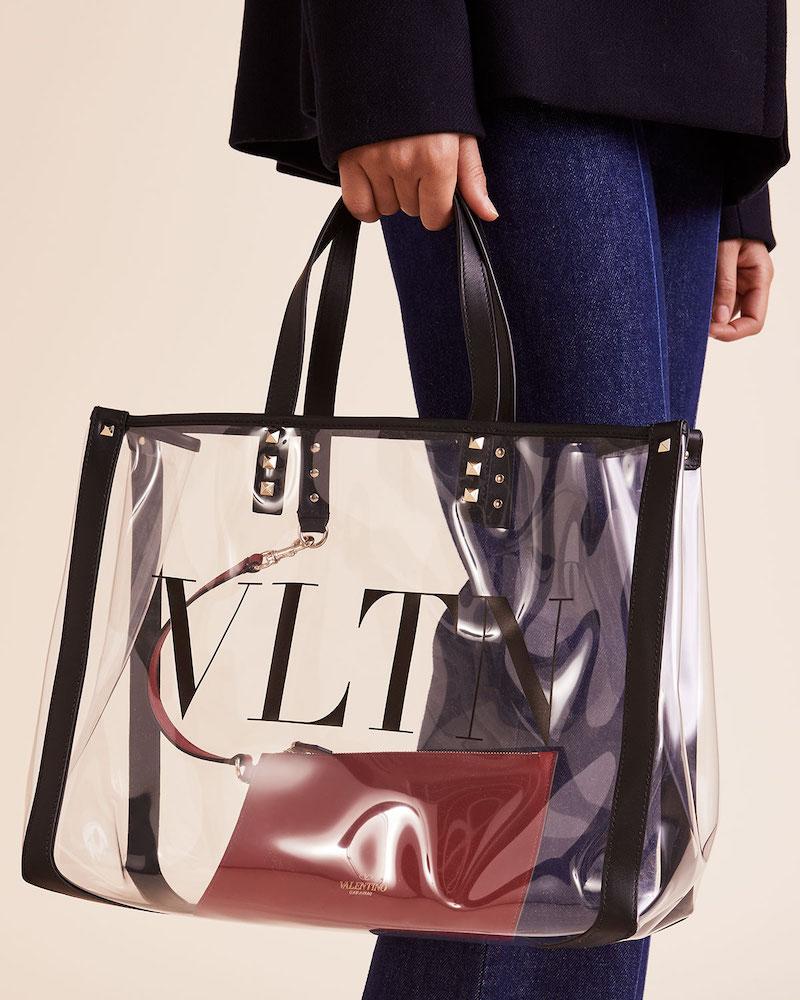 Valentino Garavani VLTN Grande PVC Tote Bag