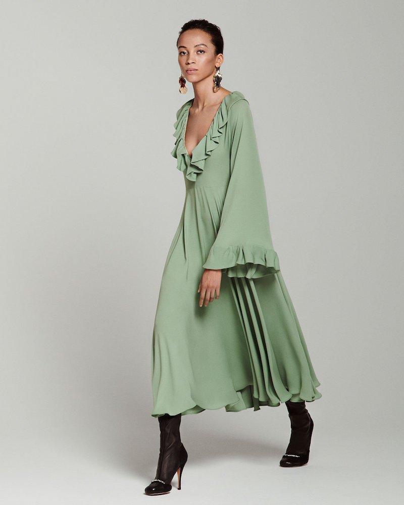 Valentino Ruffled Georgette Dress