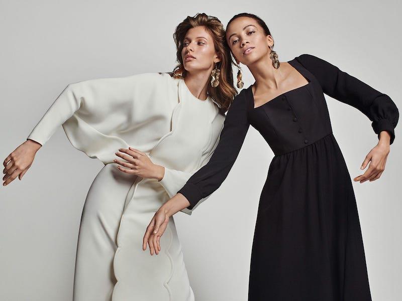 Valentino Scalloped Silk-Blend Dress