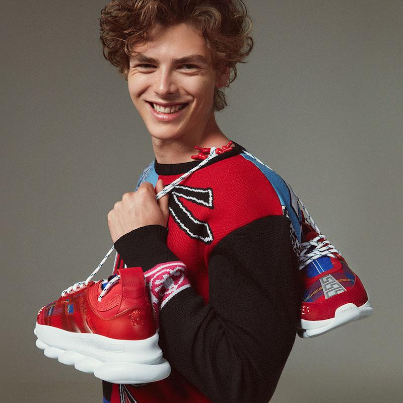 Versace Football Wool Jacquard Sweater