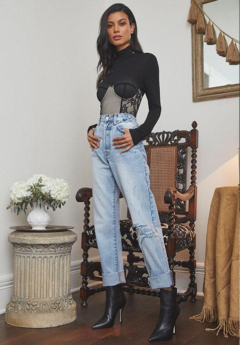 h:ours x Yovanna Ventura Bustier Bodysuit