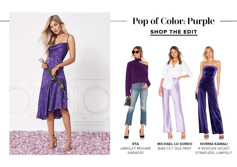 POP OF COLOR: PURPLE