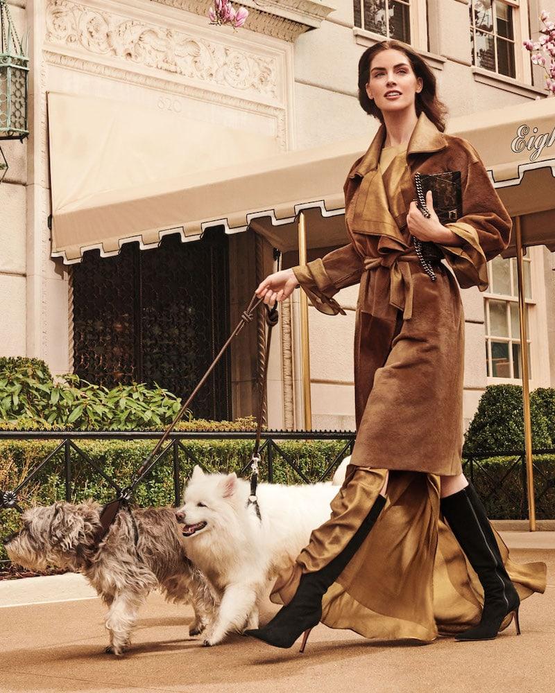 Akris Plunging Long-Sleeve Side-Slit Draped Metallic-Silk Evening Gown