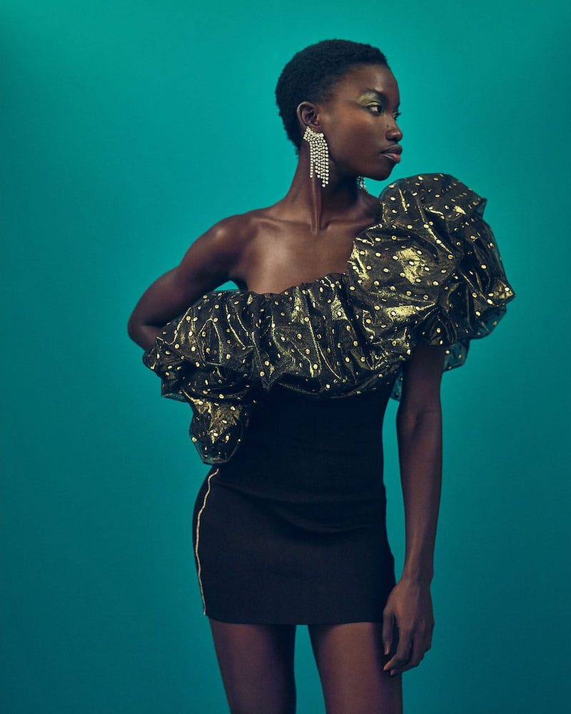 Alexandre Vauthier One-Shoulder Tulle Mini Dress