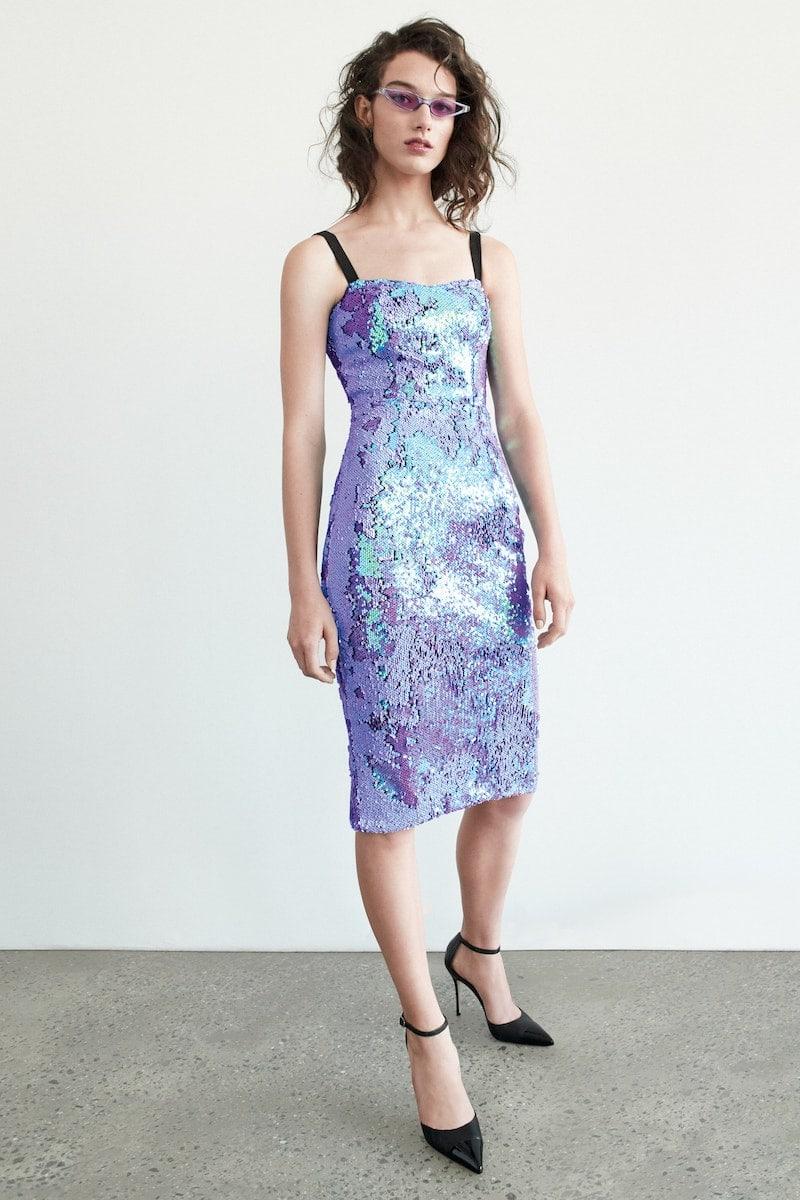 Dress the Population Lynda Iridescent Sequin Sheath Dress