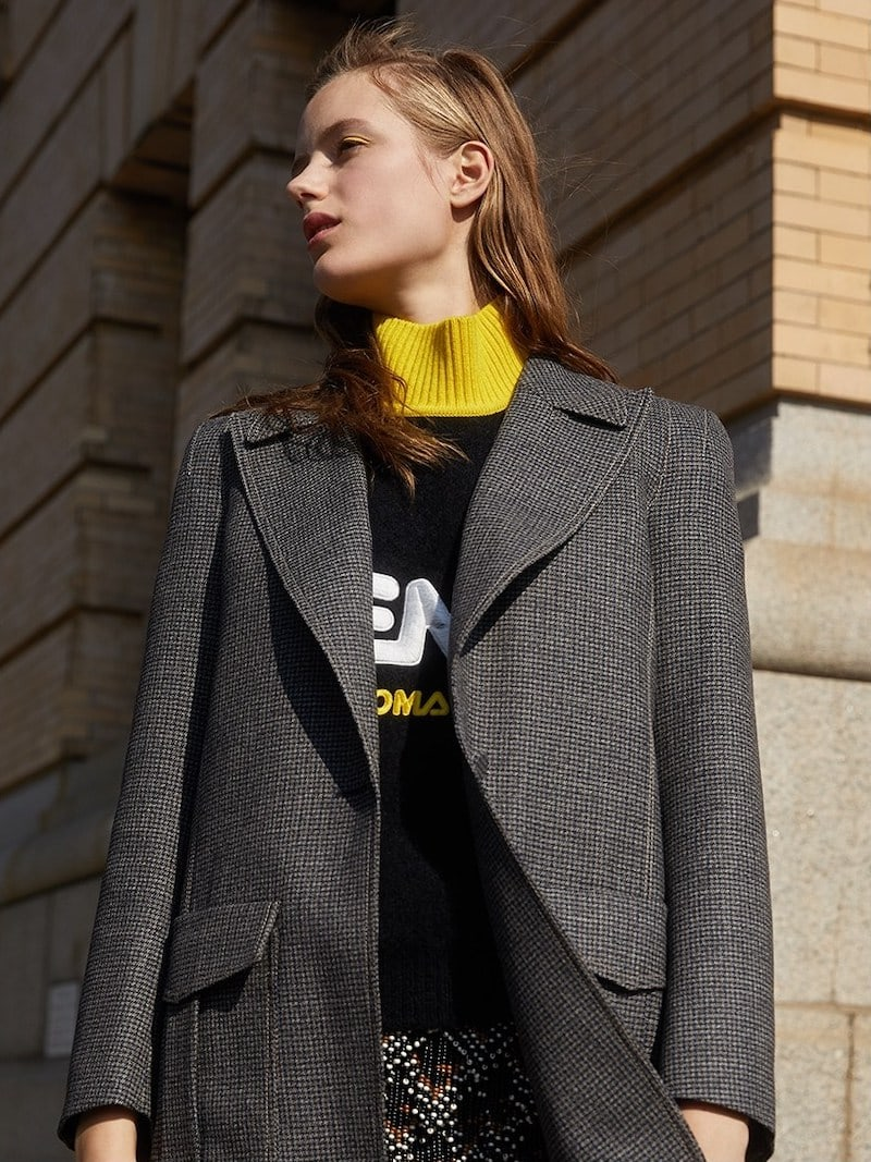 Fendi Longline Tweed Jacket