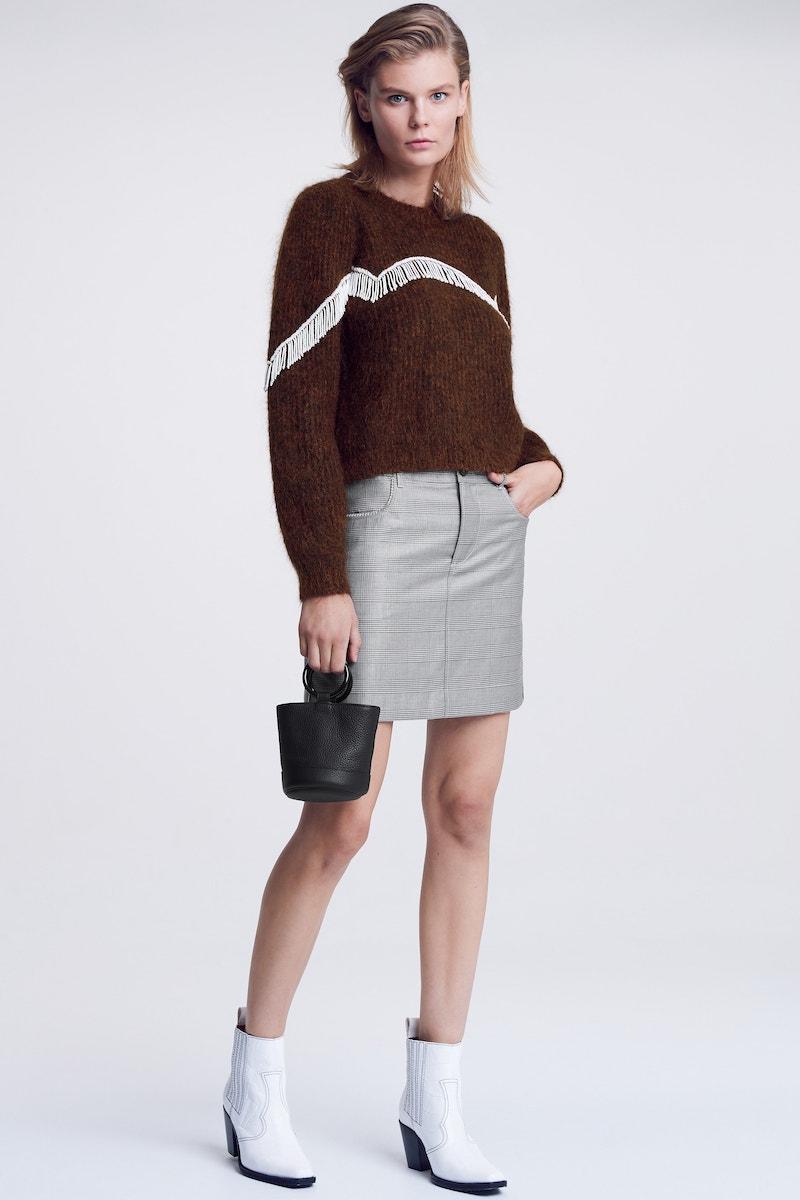 Ganni Mohair Blend Knit Sweater