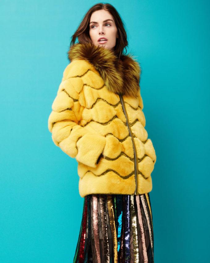 Gorski Wave Quilted Reversible Mink-Fur Jacket with For-Fur Hood 1