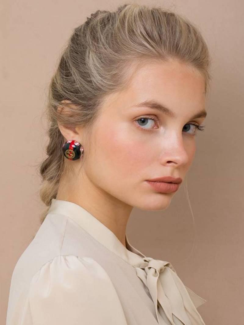 Gucci Logo Stud Earrings