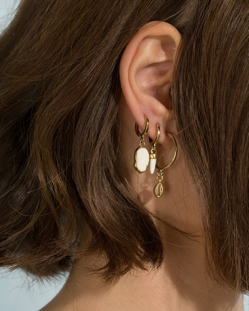 Isabel Marant Hoop Earrings With Mismatched Charms