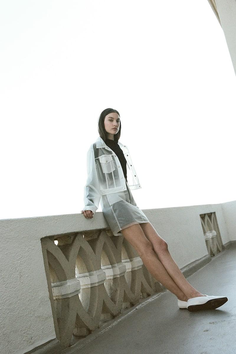 J BRAND Loria Mini Skirt in Clear Indigo