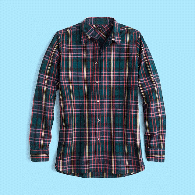 J.Crew Signature Tartan Perfect Slim Stretch Shirt