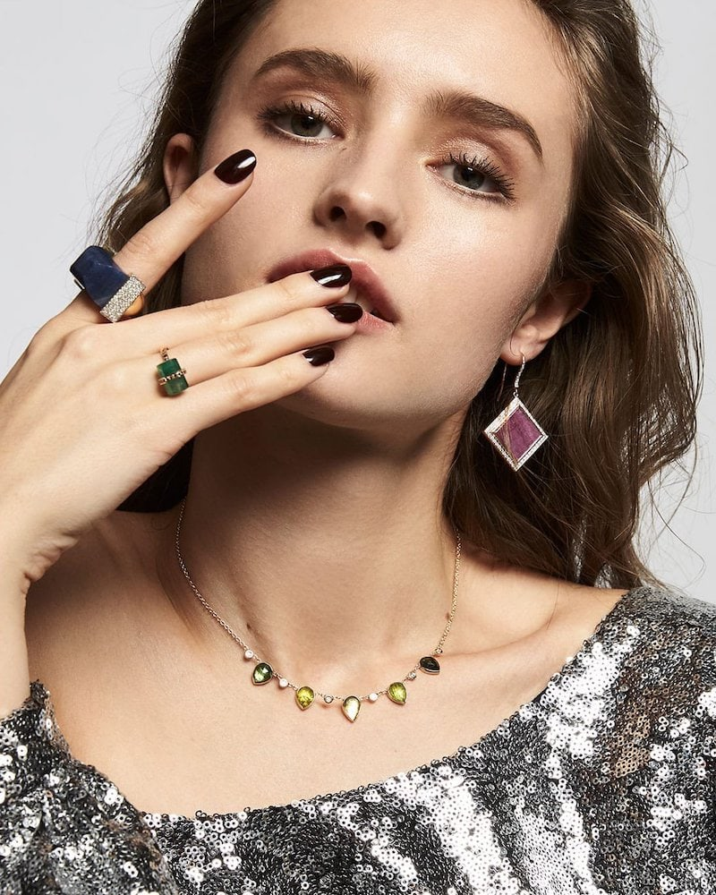 Jade Jagger Neverending Ruby Earrings