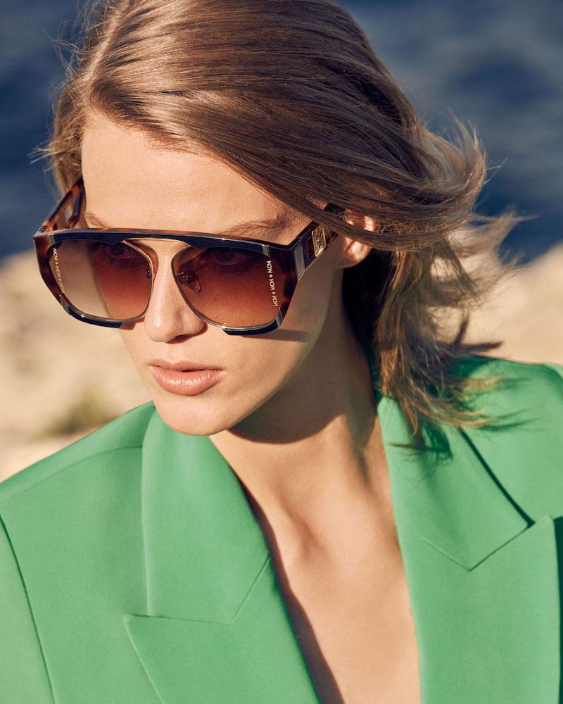 MCM Acetate & Metal Aviator Sunglasses