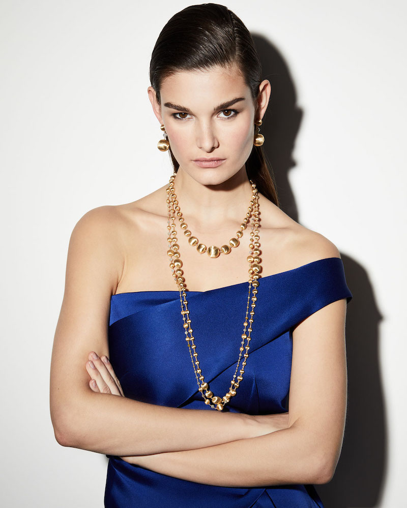 Marco Bicego 18k Gold Triple Wave Necklace