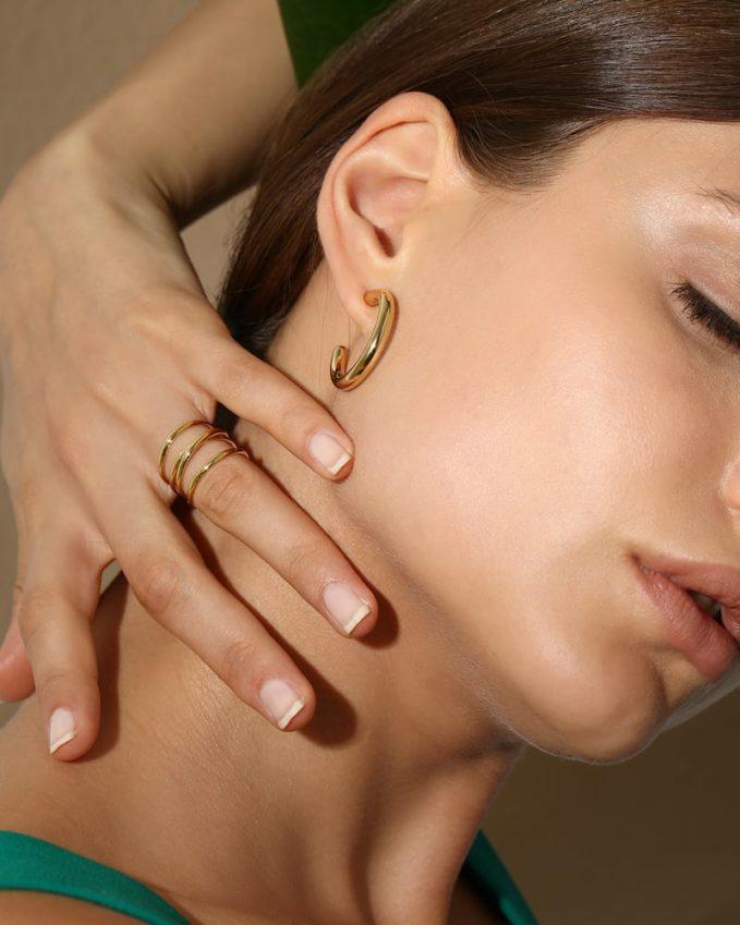 Maria Black Ruby 28 Mono Hoop Earring