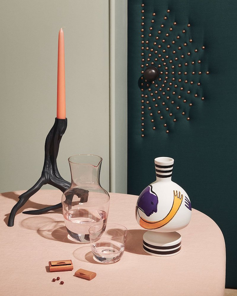 Nick Vinson X Nymphenburg Large Ceramic Branch Candlestick