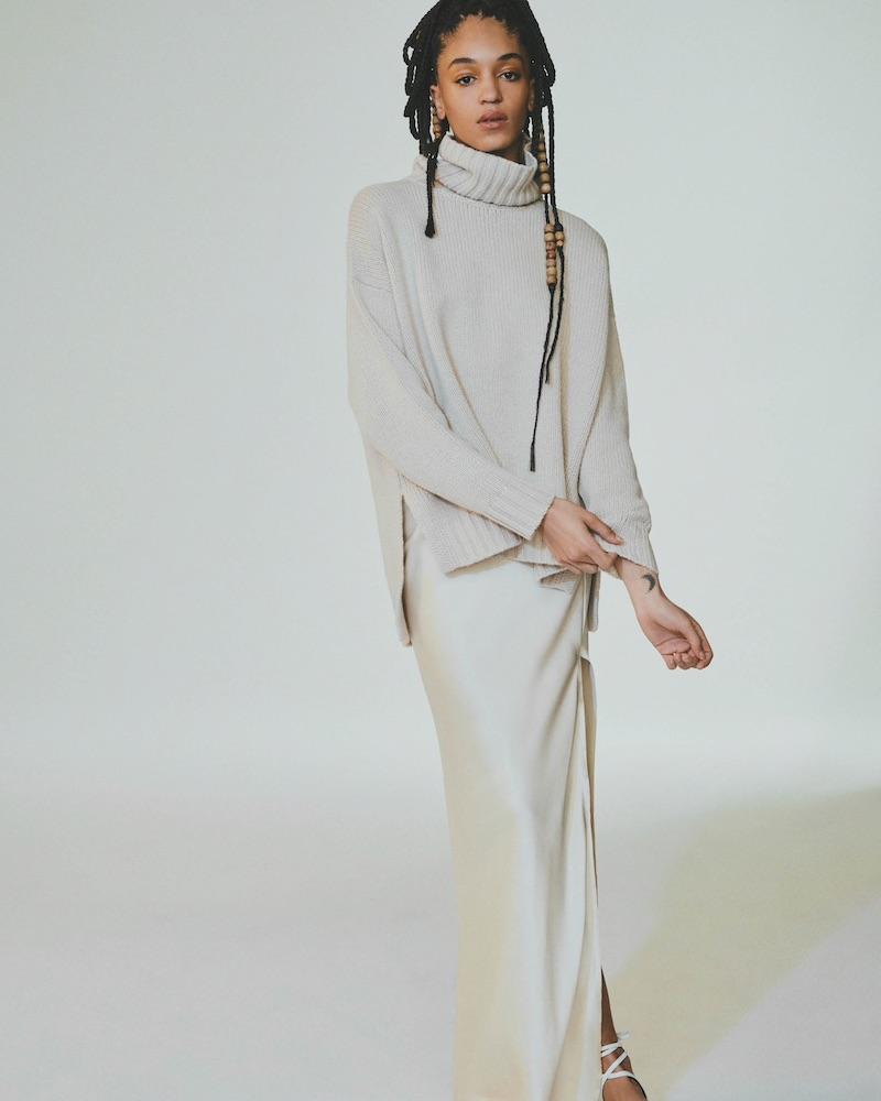 Nili Lotan Azalea Silk Charmeuse Maxi Skirt