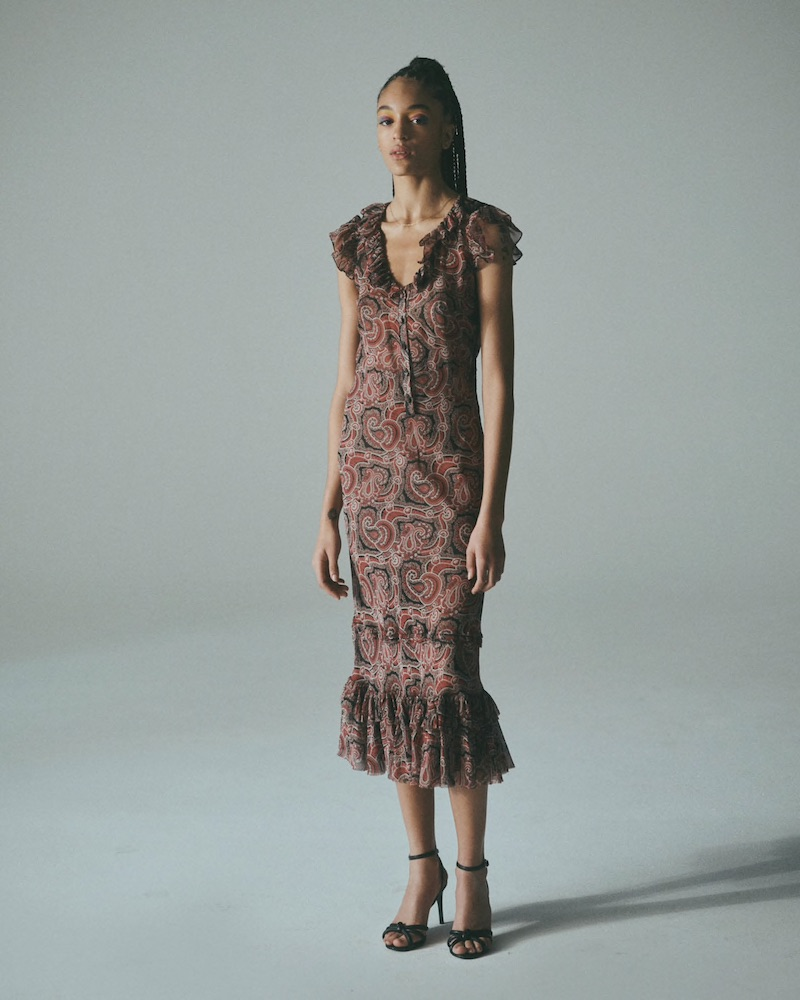 Nili Lotan Georgia Paisley Silk Maxi Dress