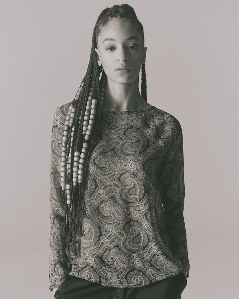 Nili Lotan Harper Paisley Silk Blouse