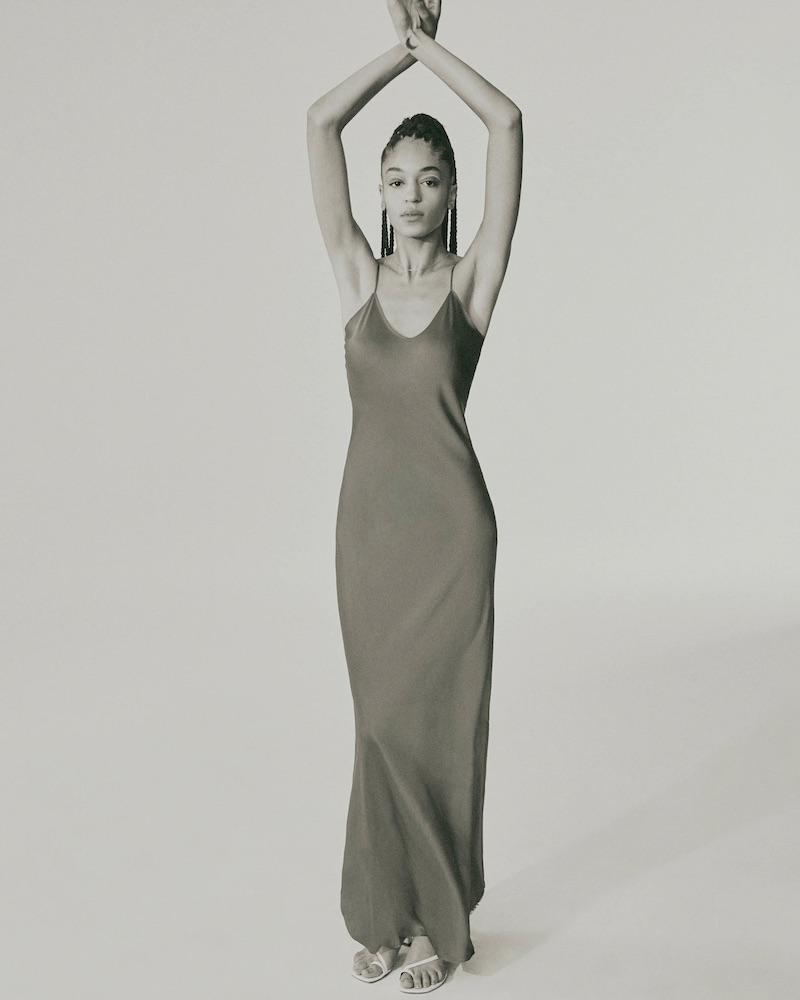 Nili Lotan Silk Charmeuse Slip Gown