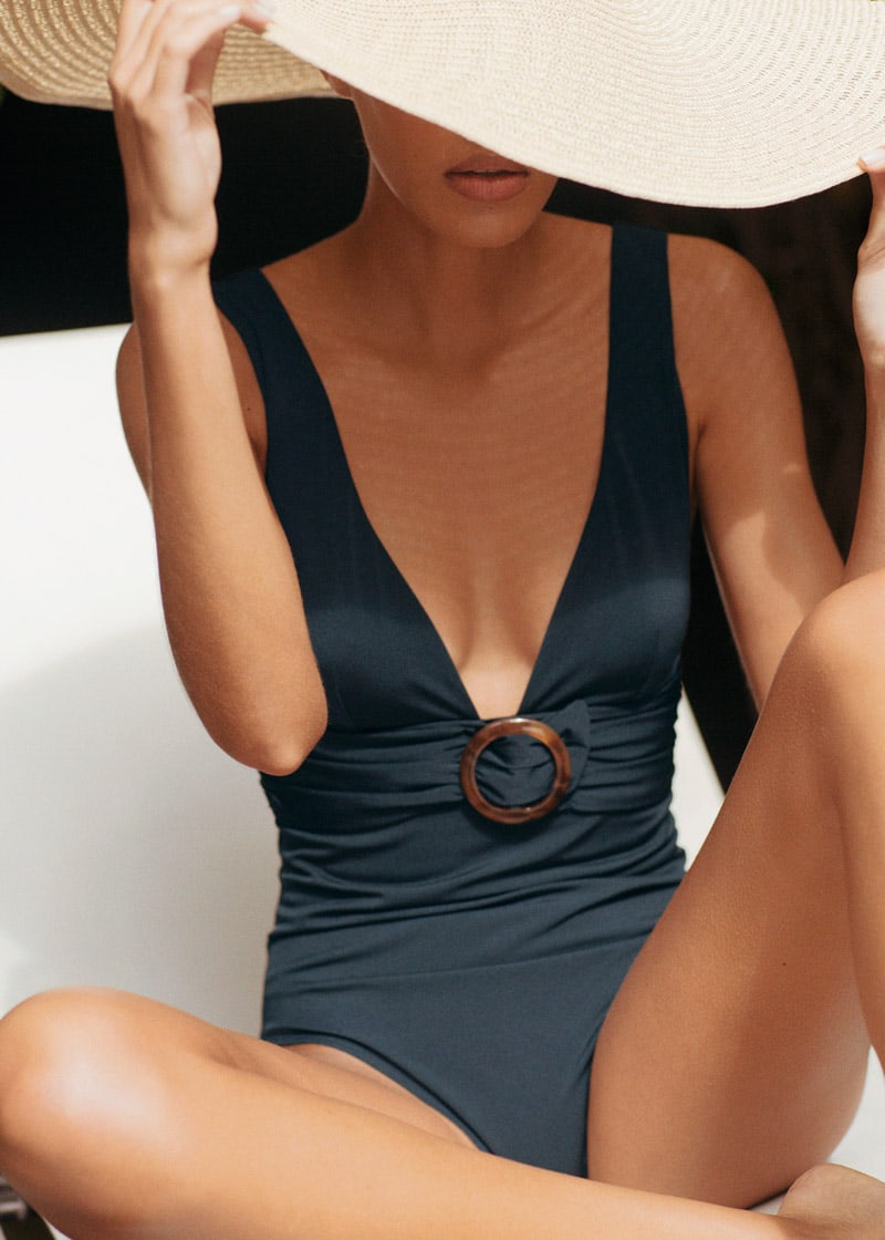 & Other Stories O-Ring Belted Swimsuit