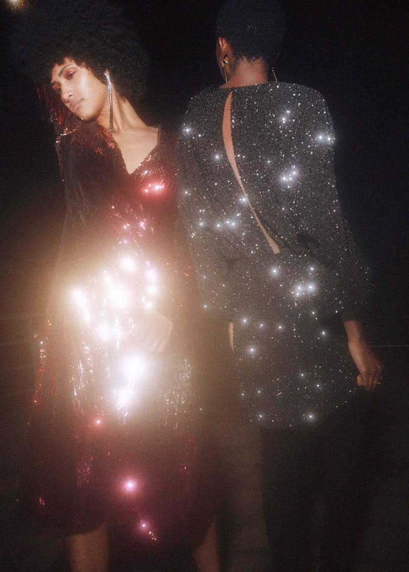 & Other Stories Ombré Sequin Midi Dress
