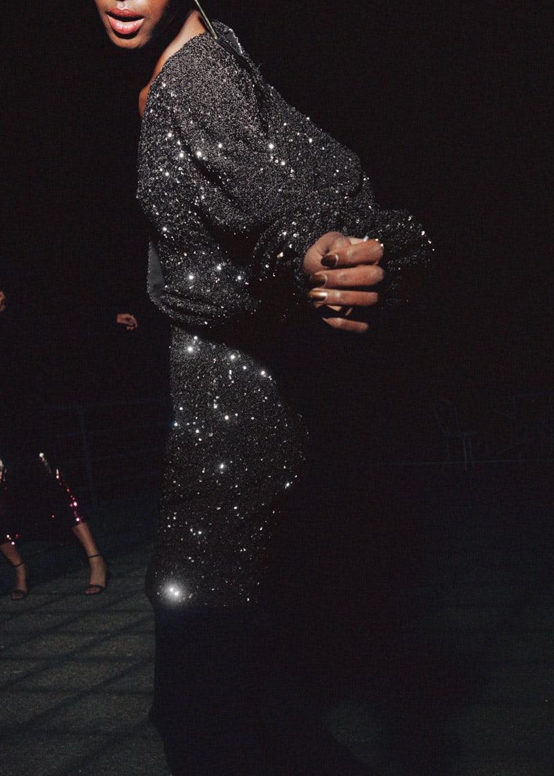 & Other Stories Sequin Mini Wrap Dress