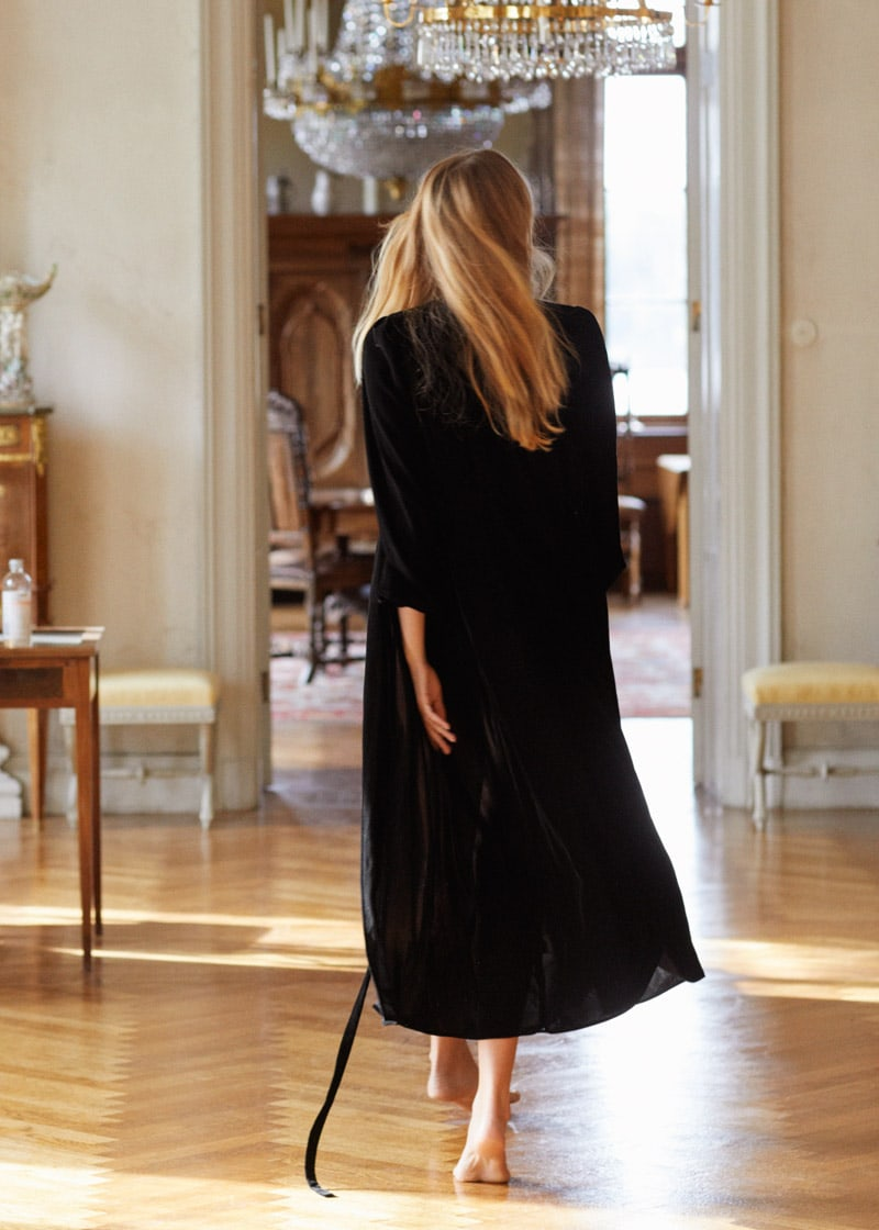 & Other Stories Velvet Midi Wrap Dress