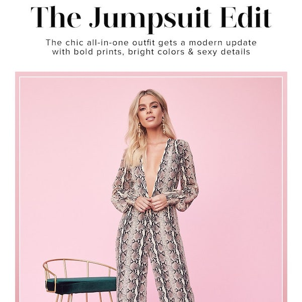 REVOLVE Holiday 2018 The Jumpsuit Edit