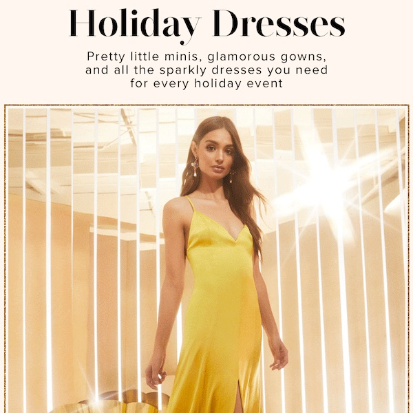 REVOLVE Ultimate Holiday Dress Guide 2018