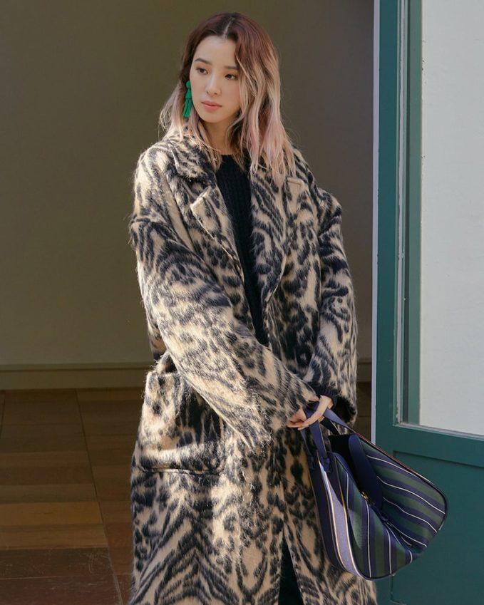 Raey Dropped-Shoulder Tiger-Print Blanket Coat