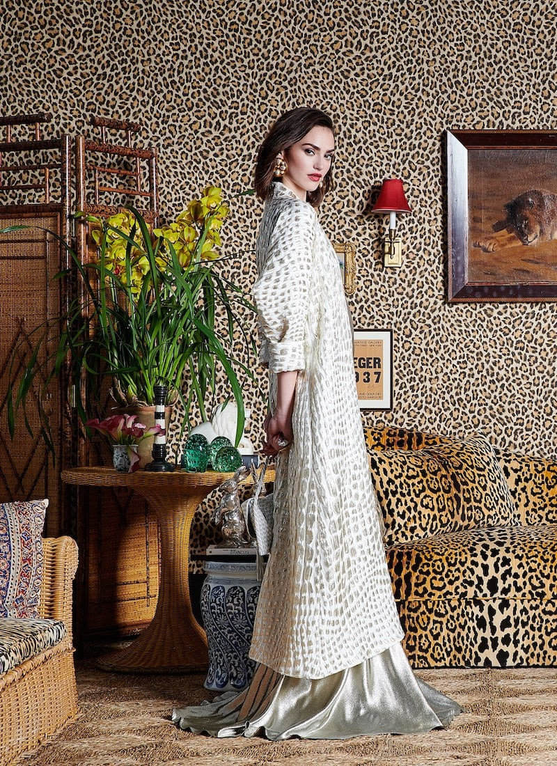 Rebecca de Ravenel Single-Breasted Alligator-Print cloqué Coat