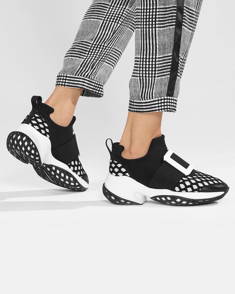 Roger Vivier Running Neoprene Buckle Sneakers