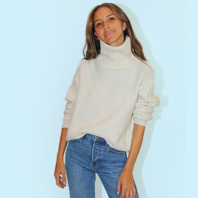 Something Navy Cozy Textured Turtleneck