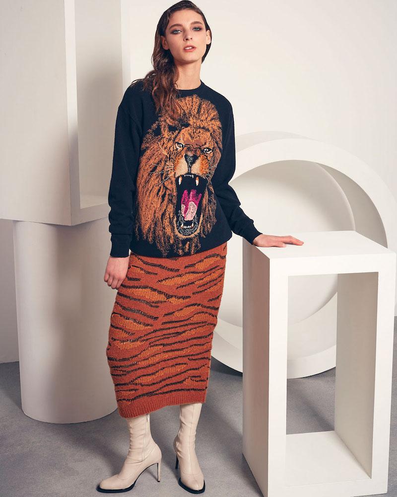 Stella McCartney Oversize Lion Intarsia Sweater