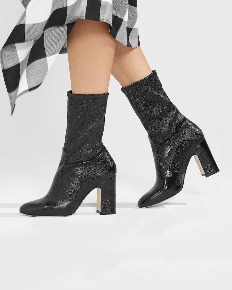 Stuart Weitzman Niki Stretch-Leather Booties