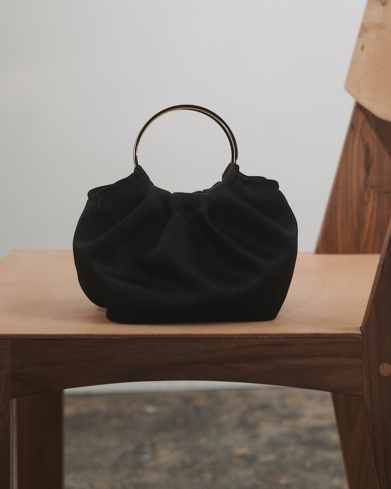 The Row Double-Circle Micro Satin Bag