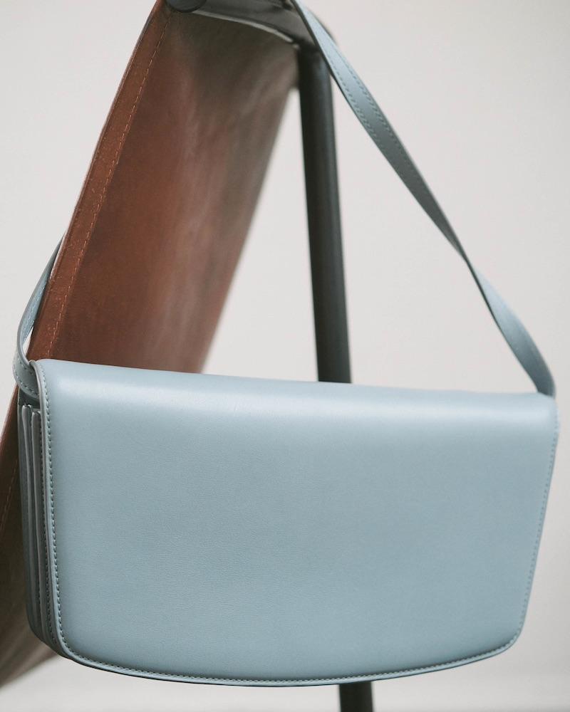 The Row Julien Baguette Leather Shoulder Bag
