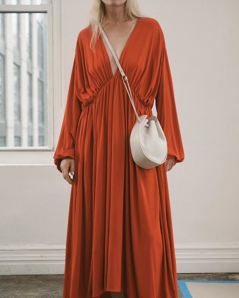 The Row Sasha Polished Twill Caftan