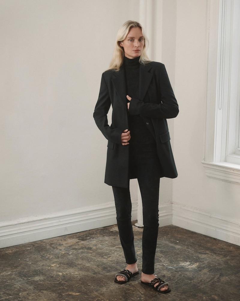 The Row Tora Wool-Blend Fleece Belted Blazer