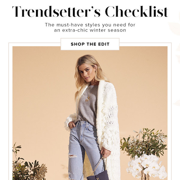 Trendsetter's Checklist for Winter 2018