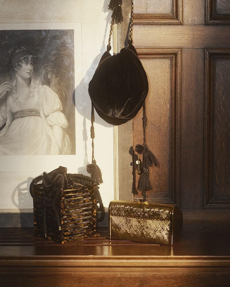 Ulla Johnson Fleur Embellished Embroidered Velvet Shoulder Bag