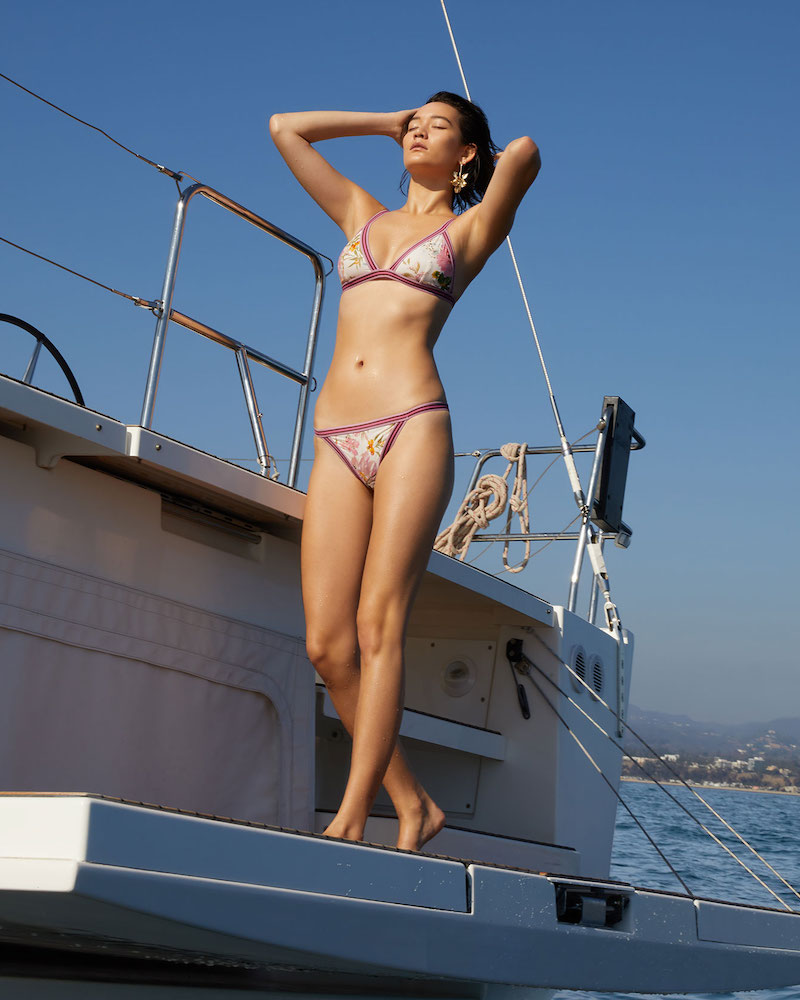 Zimmermann Heathers Elastic Triangle Bikini Top