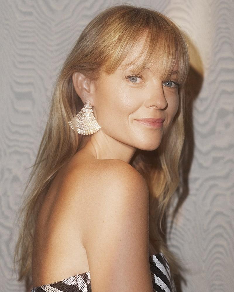 de GRISOGONO Ventaglio 18-karat Rose Gold Diamond Earrings