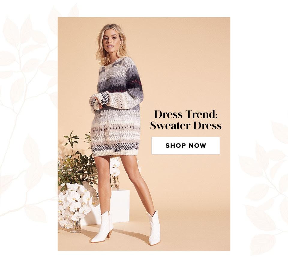 Dress Trend: Sweater Dress. Shop now.