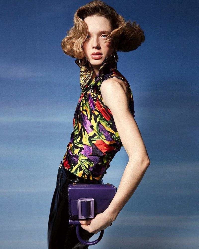 Balenciaga Floral Printed Stretch Jersey Top