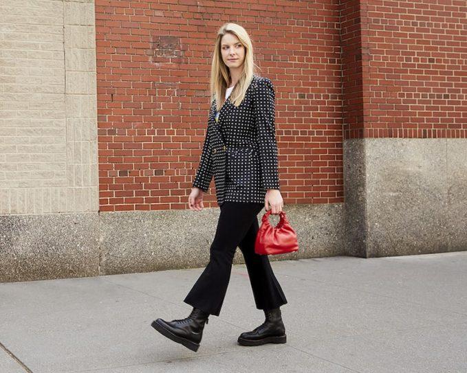 Blazé Milano Everyday Polka Dot Silk Blazer