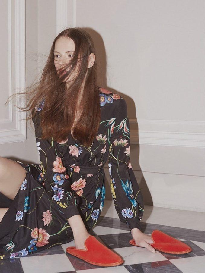 Borgo De Nor Francesca Vintage Floral Crepe Dress